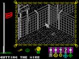 The Great Escape ZX Spectrum Cutting the wire
