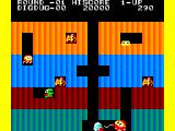 Dig Dug Casio PV-1000 Pumping up an enemy for 500 points