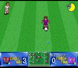 Shijō Saikyō League Serie A: Ace Striker SNES Rui Costa (Fiorentina) is preparing to take a free kick. Wrong direction, Maestro!
