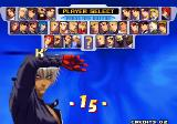 The King of Fighters 2000 Arcade Player select