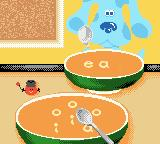 Blue's Clues: Blue's Alphabet Book Game Boy Color Spell out the word by picking up the letters from the soup.