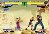 The King of Fighters 2000 Arcade Hinako vs Clark, Xiangfei as striker