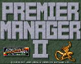 Premier Manager 2 Amiga Title screen