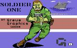 Soldier One Commodore 64 Loading Screen.