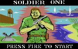 Soldier One Commodore 64 Title Screen.