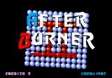 After Burner II Arcade Title screen