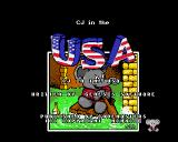 CJ in the USA Amiga Title screen