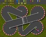 Wiraż Amiga Cup mode track 4 roundabouts and bridges