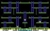 "Jumpman Commodore 64 ""Robots III"" level. The level designer must have liked robots."