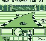 "Nakajima Satoru Kanshū F-1 Hero GB Game Boy Monza (Italian Grand Prix). Warming up. Wet weather... The player can choose ""Rain"", ""Dry"", or ""Wet""."