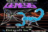 Genesis Apple II Title screen