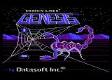 Genesis Atari 8-bit Title screen