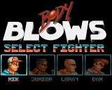 Body Blows Amiga Choose a fighter