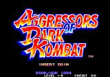 Aggressors of Dark Kombat Arcade Title Screen.