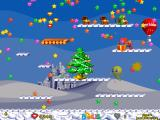 Foxy Jumper 2: Winter Adventures Windows Level 6: bonus stars and enemies hiding in a gift.