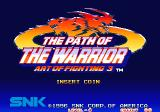 Art of Fighting 3: The Path of The Warrior Arcade Title Screen.