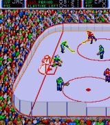 Blades of Steel Arcade Defending your goal.