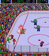 Blades of Steel Arcade Playing in the corner.