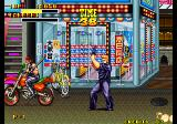 Burning Fight Arcade Shooting a biker.