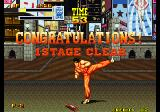 Burning Fight Arcade Stage 1 clear.