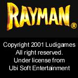 Rayman Palm OS Title screen