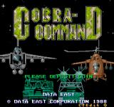 Cobra Command Arcade Title Screen.