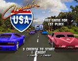 Cruis'n USA Arcade Title Screen.