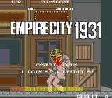 Empire City: 1931 Arcade Title Screen.