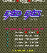 Exed Exes Arcade Title Screen.