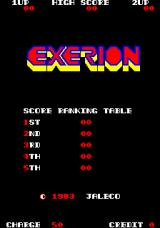 Exerion Arcade Title Screen.