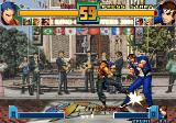 The King of Fighters 2001 Arcade K9999 kick in Shingo's feet