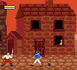Cutthroat Island Game Gear A pirate throws bombs out of the window