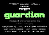 The Last Guardian Atari 8-bit UK title screen