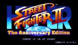 Hyper Street Fighter II: The Anniversary Edition Arcade Title Screen.