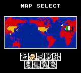 Fatal Fury Special Game Gear Map screen