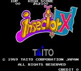 Insector X Arcade Title Screen.