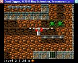 Dust Digger Amiga Game over