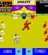 Karate Champ Arcade Warming up.
