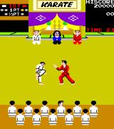 Karate Champ Arcade Attempting to kick.