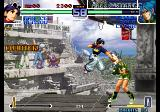 The King of Fighters 2002: Challenge to Ultimate Battle Arcade Jumping punch.