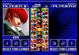 The King of Fighters 2003 Arcade Team selection.