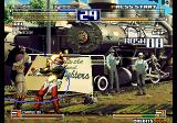 The King of Fighters 2003 Arcade Hitting you with her whip.