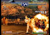 The King of Fighters 2003 Arcade Using fire.