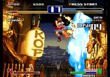 The King of Fighters 2003 Arcade Special move in the air.