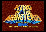 King of the Monsters Arcade Title Screen.