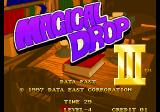 Magical Drop III Arcade Title Screen.