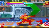Marvel Super Heroes Arcade Knocked back.