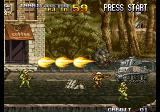 Metal Slug 4 Arcade Tank to destroy.