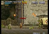 Metal Slug 4 Arcade On ruined streets.