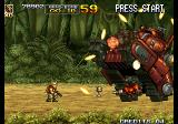 Metal Slug 5 Arcade Trying to destroy the boss.